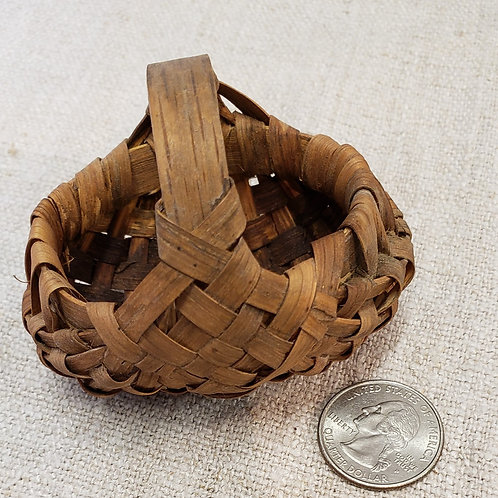 Miniature Antique Buttocks Basket