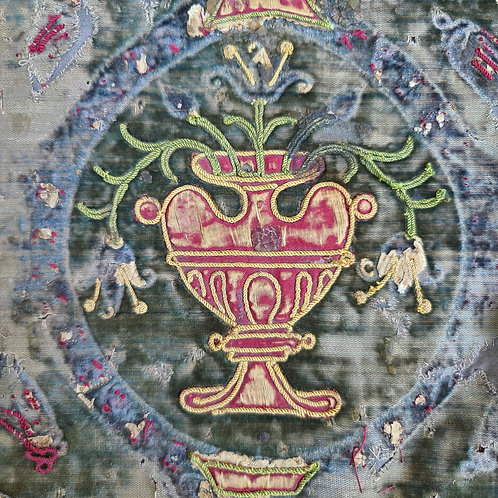 Scrap of 17th C Embroidery