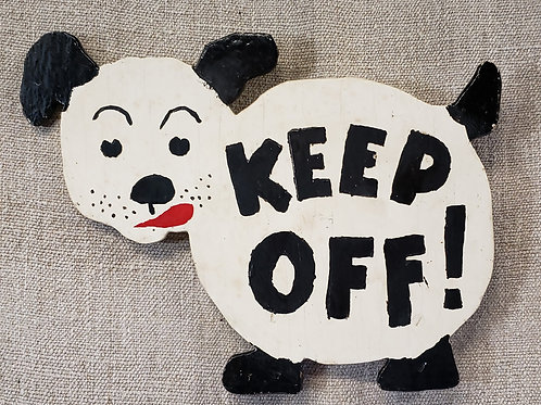 Keep Off Puppy Sign