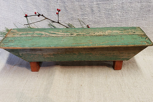 Tiny Bench in Red and Green Paint