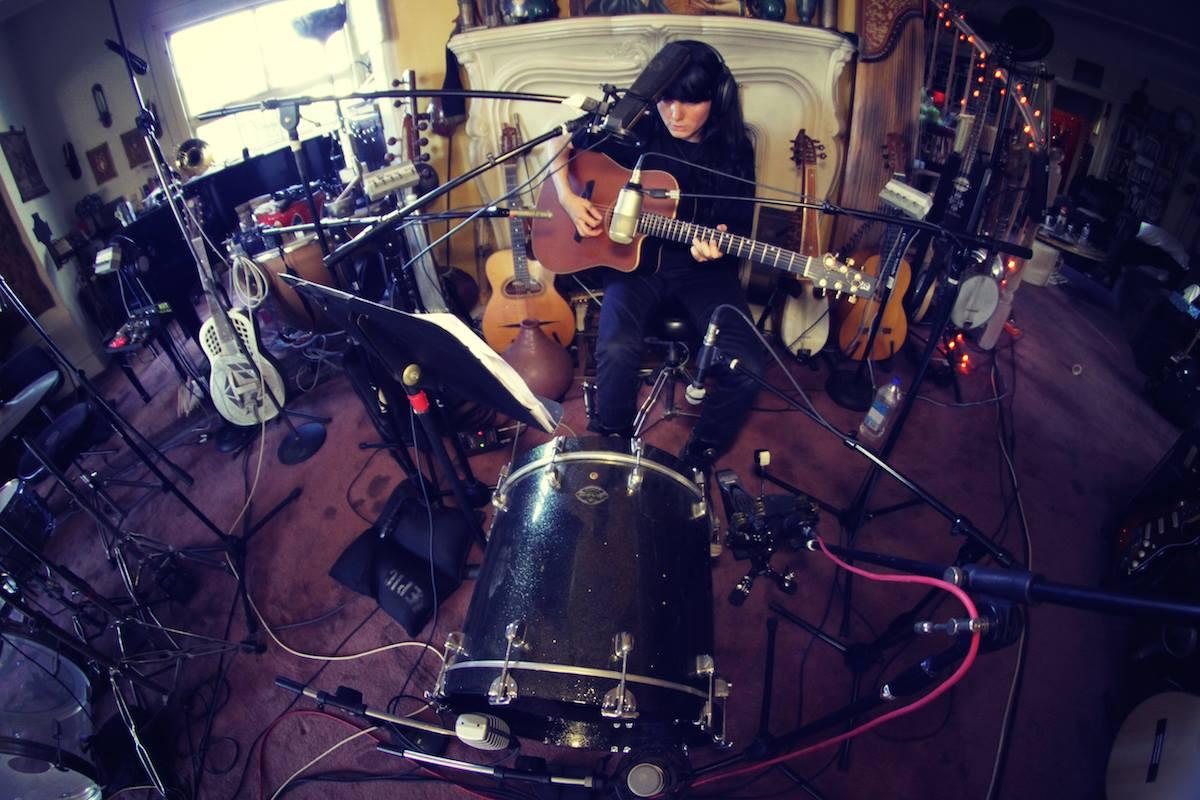 """Recording of the album """"Partir"""""""