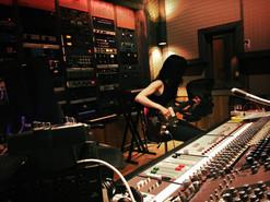 """Edith Crash recording """"Frenzy"""" at Studio G"""