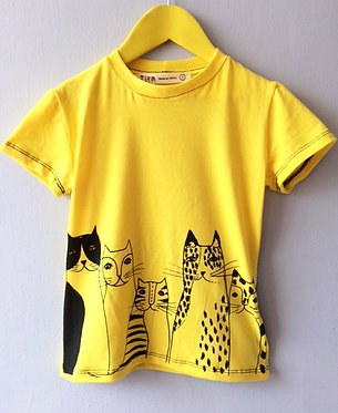 PLAYERA GATOS amarilla