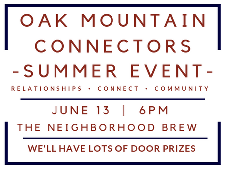 Oak Mountain Connectors Summer Event