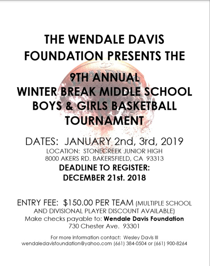 9th Annual Middle School Bake