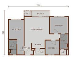 TYPE C 922 sq.ft.