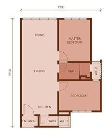TYPE 660 sq.ft.