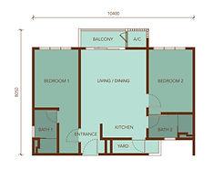 TYPE B1 800 sq.ft.