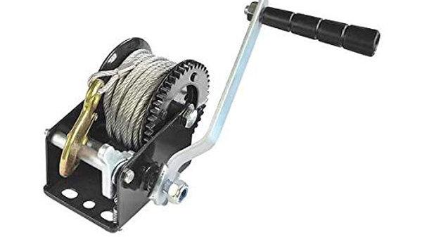 Capacity Heavy Duty Hand Winch, Hand Crank Strap Gear Winch with Steel Wire