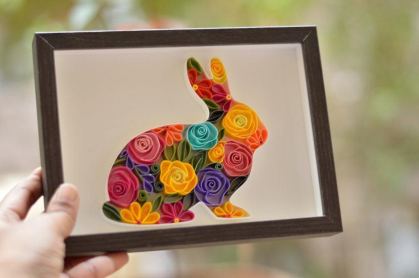Rabbit quilling Art