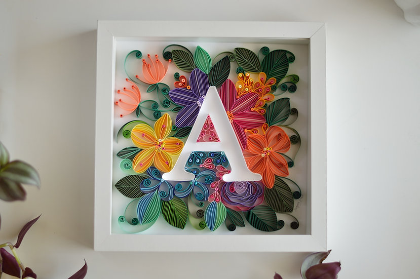 Quilled A letter
