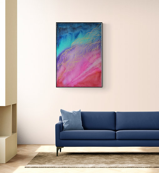 Aurora Abstract Painting