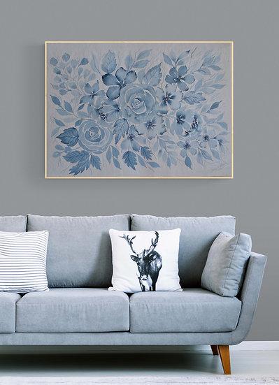 Indigo blue watercolor - 4/5 edition