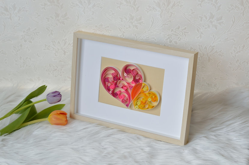 Quilling Two Hearts