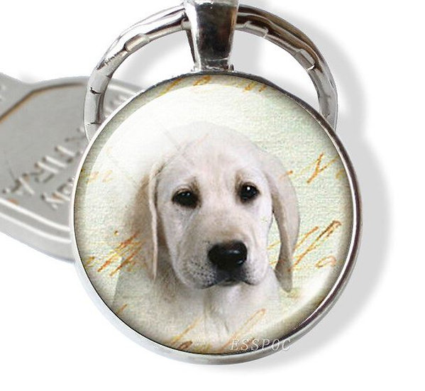 Golden Labrador Retriever Lab Keyring Key ring Bag Charm
