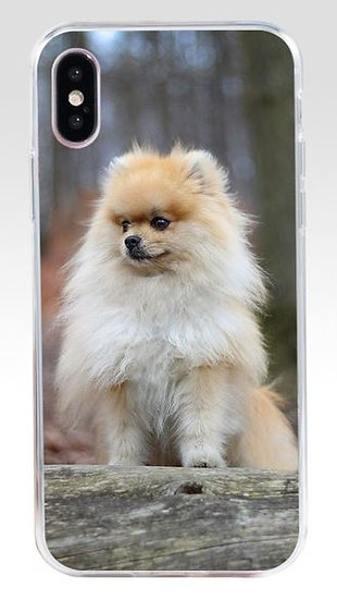 Pomeranian Dog Puppy Print Mobile Phone Case iPhone X