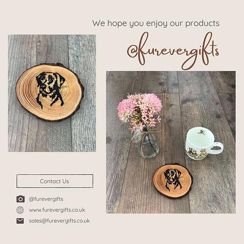 Image of Handmade Animal Log Coaster