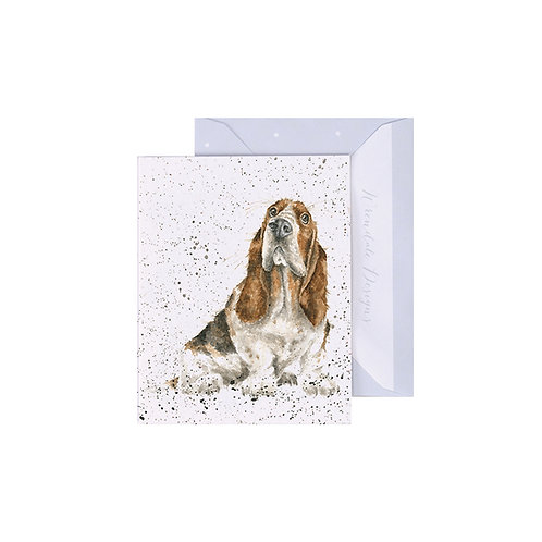Image of Wrendale Designs 'Did Somebody Say Cake' Dog Mini Greetings Card
