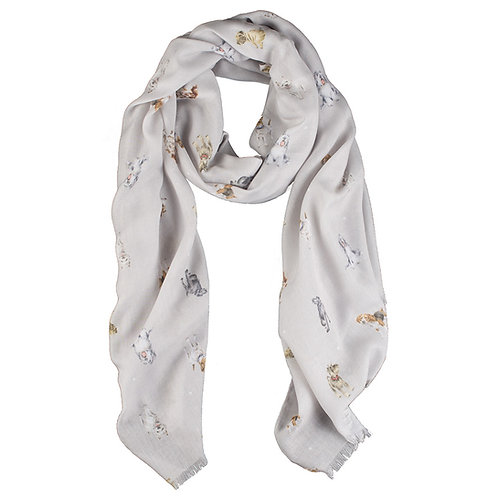 Image of A Dog's Life Dog Print Scarf by Wrendale Designs