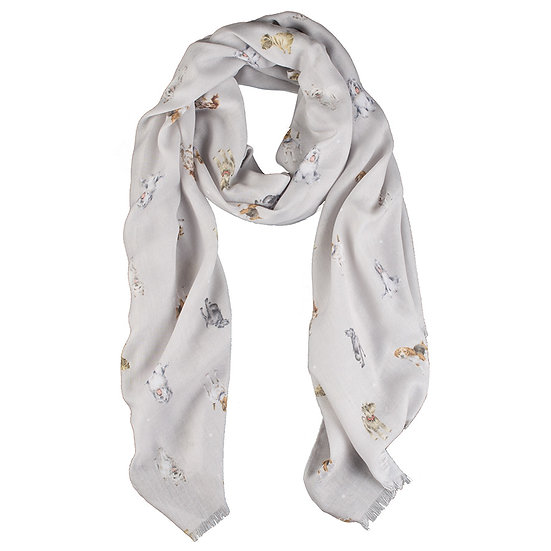 SCF005 Wrendale Designs 'A Dog's Life' Scarf