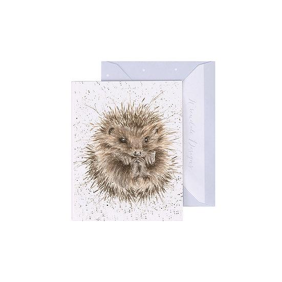 Image of Wrendale Designs 'Awakening' Hedgehog Mini Greetings Card