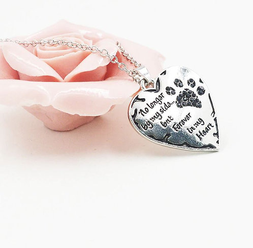 Image of Heart Pet Memory Necklace