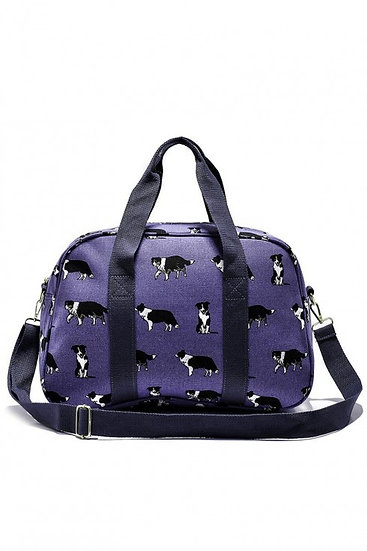 Border Collie Puppy Dog Holdall Travel Bag