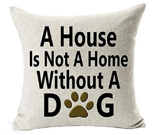 Image of House Home Dog Cushion Cover