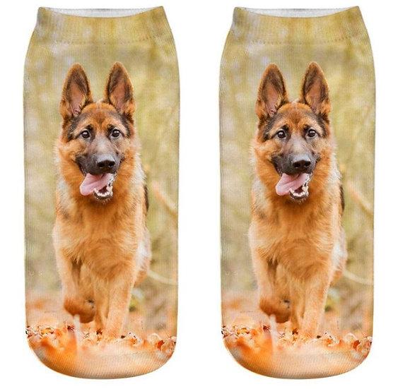 Alsatian German Shepherd Puppy Dog Trainer Socks