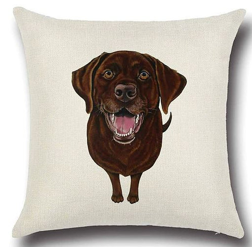 Image of Chocolate Labrador Retriever Puppy Dog Cushion Cover