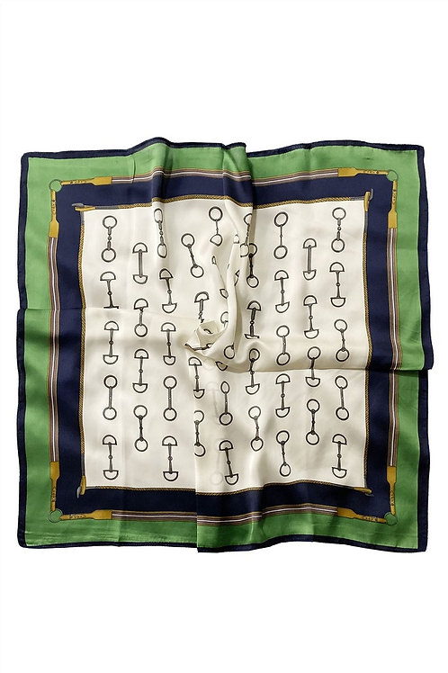 Image of Green Equestrian Horse Bit Scarf