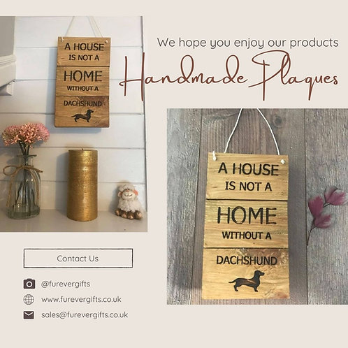 Image of Handmade Wooden Animal Plaques