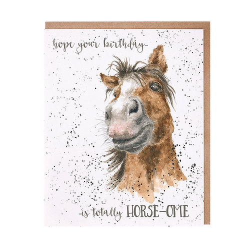 Image of Wrendale 'Totally Horse-ome' Horse Card