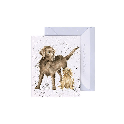 Image of Wrendale Designs 'Puppy Love' Dog Mini Greetings Card
