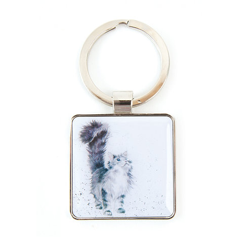 Image of Lady of the House Cat Keyring by Wrendale Designs