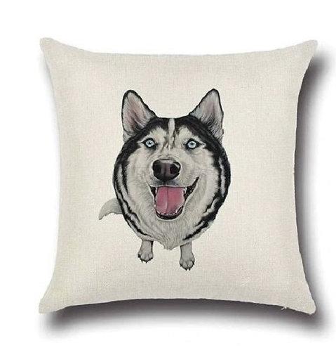 Image of Husky Dog Cushion Cover