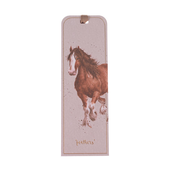 BM020 Wrendale Designs Feather and Forelocks Horse Bookmark