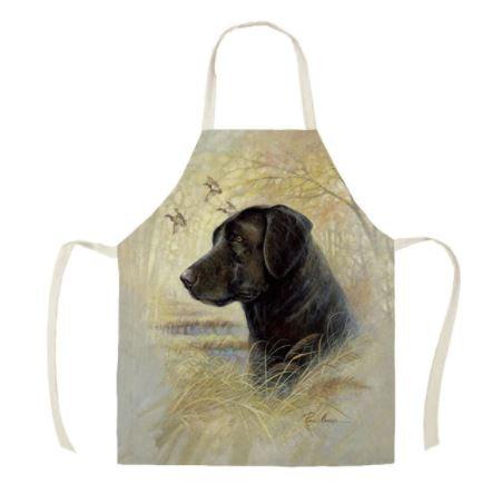 Image of Black Labrador Dog Apron