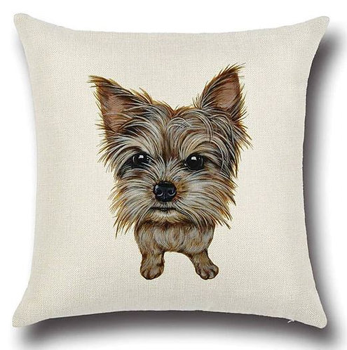 Image of Yorkshire Terrier Puppy Dog Cushion Cover