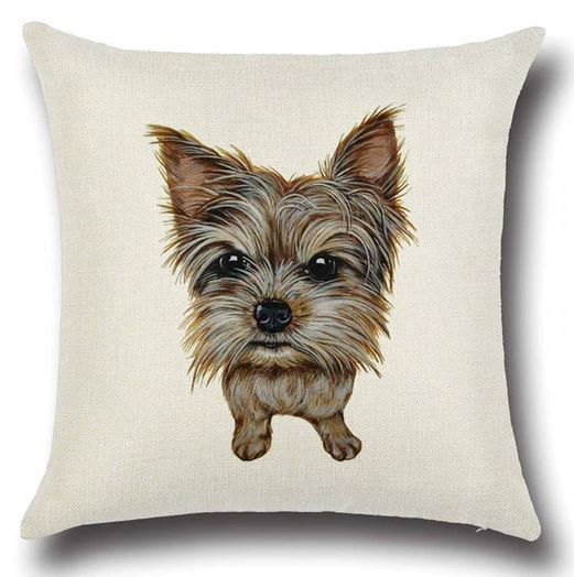 Yorkshire Terrier Dog Cushion Cover