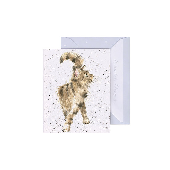 Image of Wrendale Designs 'Just Purrfect' Cat Mini Greetings Card.
