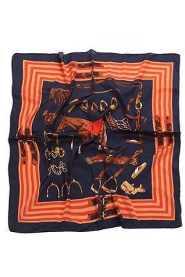 Image of Orange Equestrian Horse Print Scarf by Furever Gifts