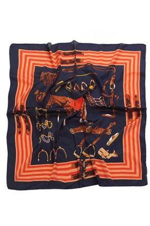 Image of Equestrian Horse Print Scarf
