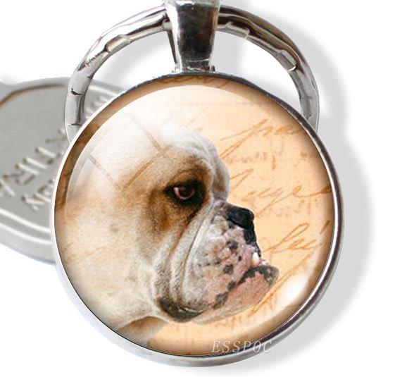 British Bull Dog Keyring Chain Pendant