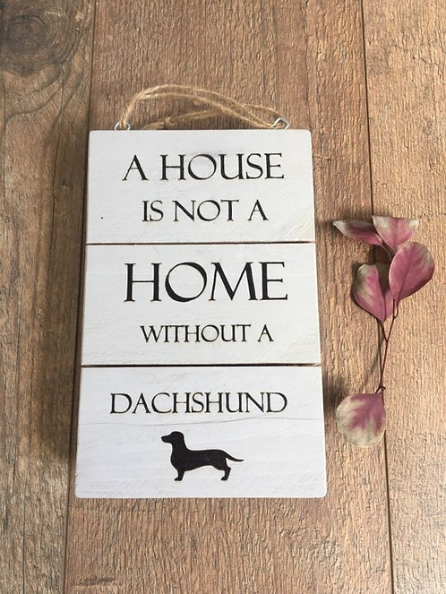 Handmade Wooden Door Dog Puppy Paw Print Sign Plaques