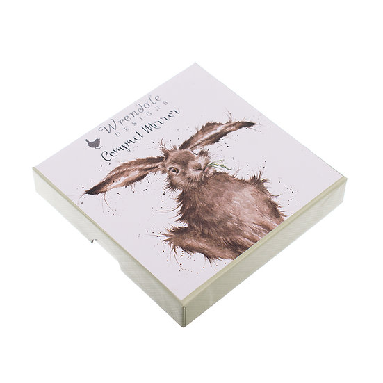 Image of Boxed Hare Compact Mirror by Wrendale Designs