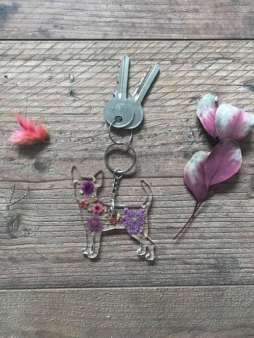 Image of Handmade Personalised Chihuahua  Keyring