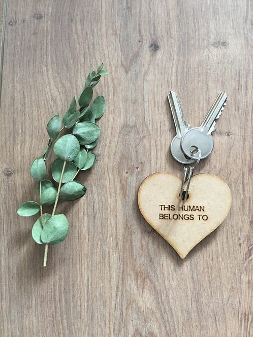 Image of Handmade Wooden Animal Personalised Keyring