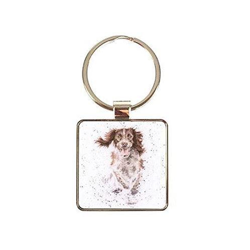 Image of Skye Springer Spaniel Dog Keyring by Wrendale Designs