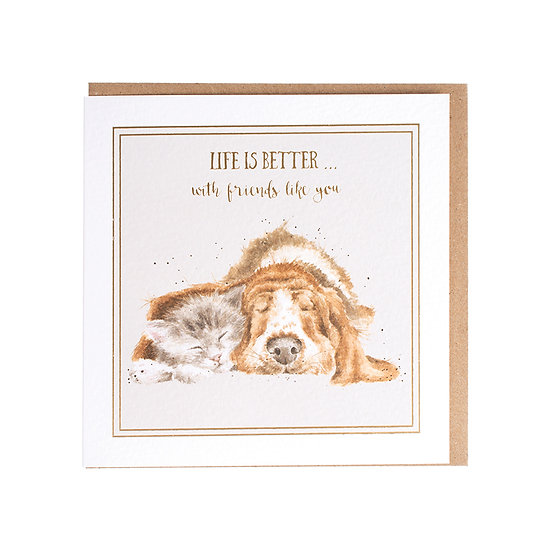 WW024 Wrendale Designs Life is Better Greetings Card